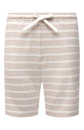 Женские хлопковые шорты EVA B.BITZER светло-бежевого цвета, арт. 11300345   Фото 1