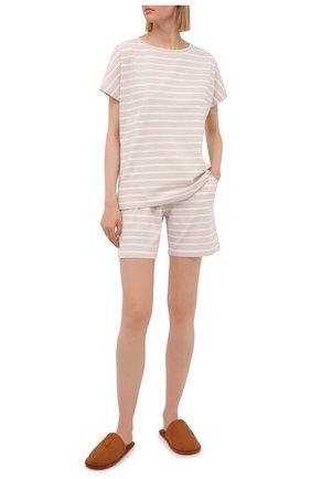 Женские хлопковые шорты EVA B.BITZER светло-бежевого цвета, арт. 11300345   Фото 2