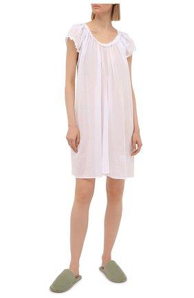 Женская хлопковая сорочка EVA B.BITZER белого цвета, арт. 11313667   Фото 2