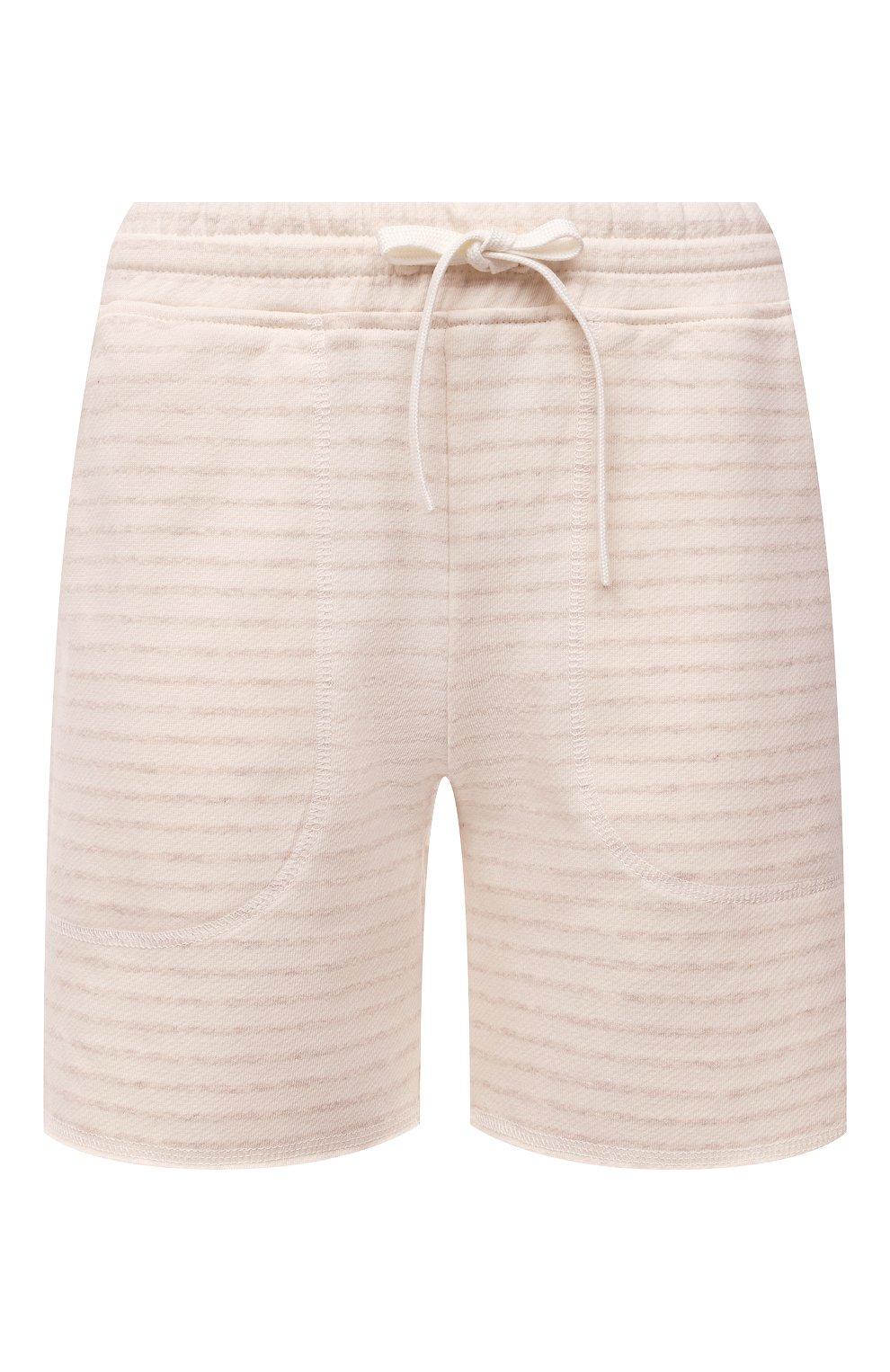 Женские шорты EVA B.BITZER светло-бежевого цвета, арт. 11322845 | Фото 1 (Длина Ж (юбки, платья, шорты): Мини; Женское Кросс-КТ: Домашние шорты; Материал внешний: Хлопок)