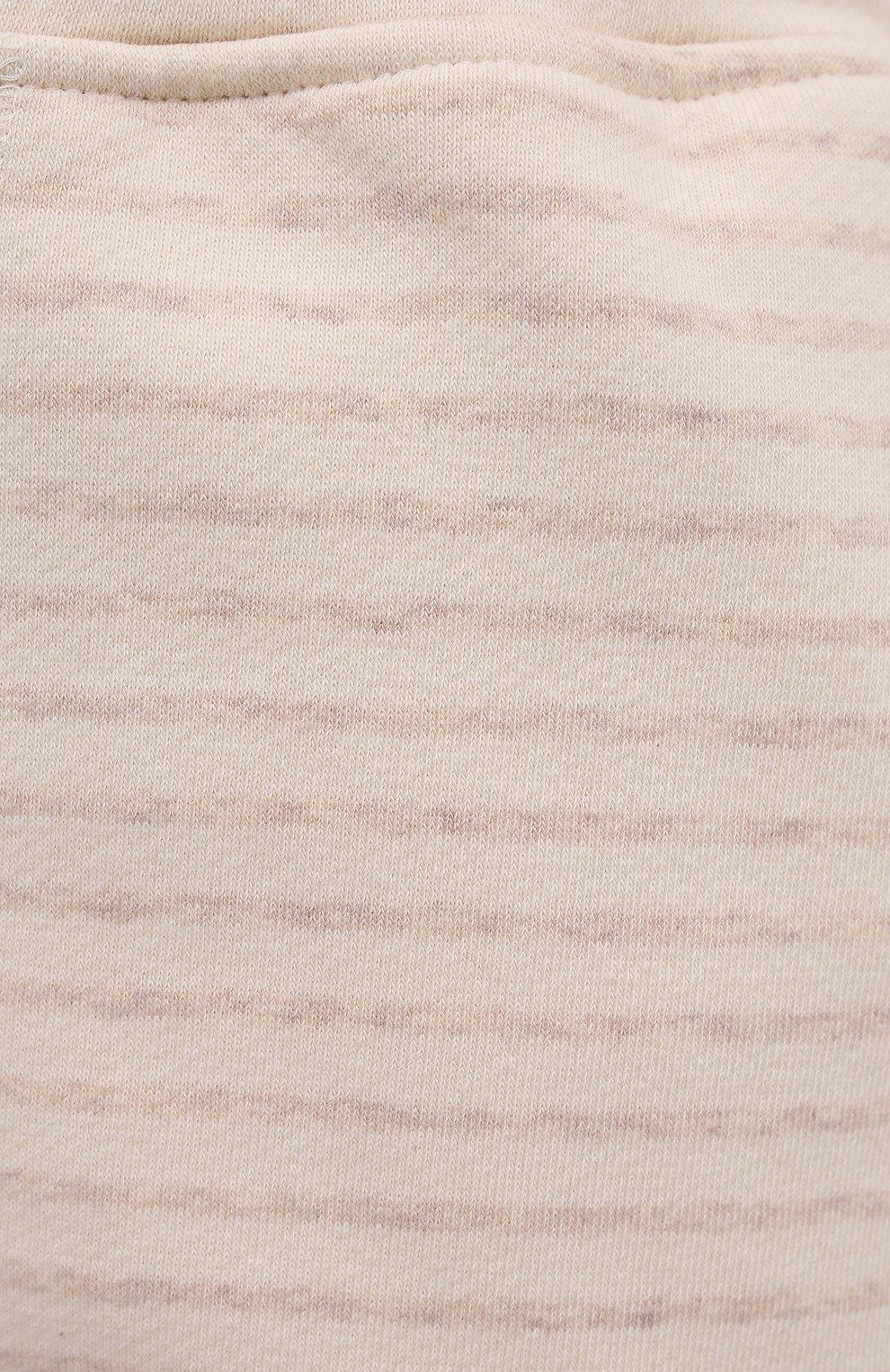 Женские шорты EVA B.BITZER светло-бежевого цвета, арт. 11322845 | Фото 5 (Длина Ж (юбки, платья, шорты): Мини; Женское Кросс-КТ: Домашние шорты; Материал внешний: Хлопок)