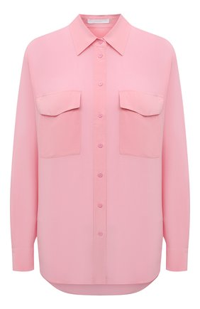 Женская шелковая рубашка BOSS розового цвета, арт. 50447798 | Фото 1