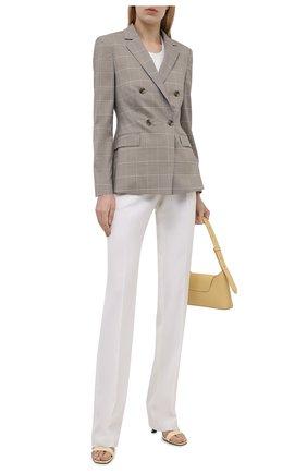 Женский жакет из шерсти и шелка BOSS серого цвета, арт. 50455668 | Фото 2