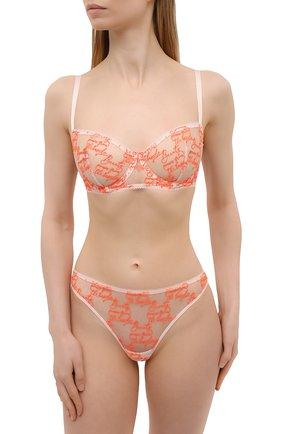 Женские трусы-стринги SIMONEPERELE оранжевого цвета, арт. 19V710 | Фото 2