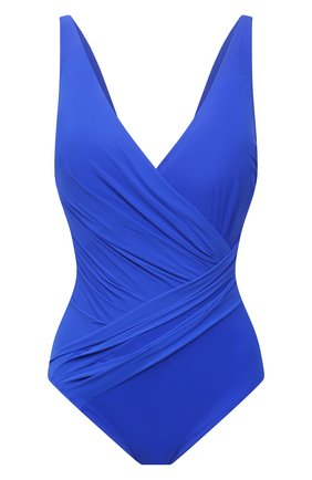 Женский слитный купальник GOTTEX синего цвета, арт. LL178 | Фото 1 (Материал внешний: Синтетический материал; Женское Кросс-КТ: Слитные купальники; Длина Ж (юбки, платья, шорты): Мини)