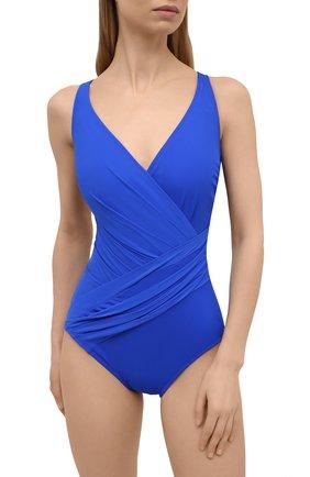 Женский слитный купальник GOTTEX синего цвета, арт. LL178 | Фото 2 (Материал внешний: Синтетический материал; Женское Кросс-КТ: Слитные купальники; Длина Ж (юбки, платья, шорты): Мини)