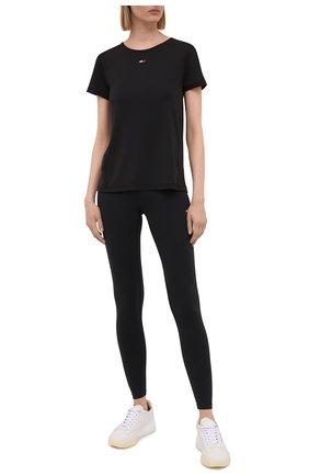 Женская футболка TOMMY HILFIGER черного цвета, арт. S10S100924 | Фото 2