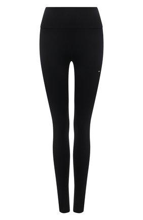 Женские леггинсы TOMMY HILFIGER черного цвета, арт. S10S100947 | Фото 1 (Длина (брюки, джинсы): Стандартные; Материал внешний: Синтетический материал; Женское Кросс-КТ: Леггинсы-спорт; Стили: Спорт-шик)