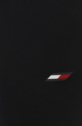 Женские леггинсы TOMMY HILFIGER черного цвета, арт. S10S100947   Фото 5 (Длина (брюки, джинсы): Стандартные; Материал внешний: Синтетический материал; Стили: Спорт-шик; Женское Кросс-КТ: Леггинсы-спорт)