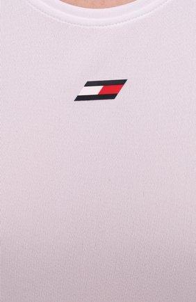 Женский майка TOMMY HILFIGER белого цвета, арт. S10S100961   Фото 5 (Женское Кросс-КТ: Топ-спорт; Кросс-КТ: без рукавов; Материал внешний: Синтетический материал; Длина (для топов): Стандартные; Стили: Спорт-шик)