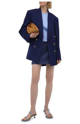 Женская хлопковая футболка FENDI голубого цвета, арт. FS7254 AFLD | Фото 2
