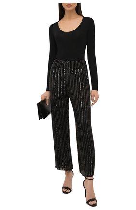 Женские брюки из вискозы JENNY PACKHAM черного цвета, арт. GGP102   Фото 2