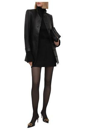 Женские кожаные туфли vlogo signature VALENTINO черного цвета, арт. VW0S0R01/DSH | Фото 2