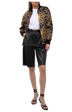 Женские кожаные босоножки TOM FORD черного цвета, арт. W2885T-LCL107 | Фото 2