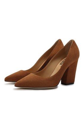 Женские замшевые туфли SERGIO ROSSI коричневого цвета, арт. A85322-MCAZ01 | Фото 1
