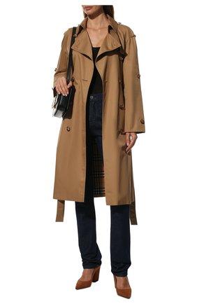 Женские замшевые туфли SERGIO ROSSI коричневого цвета, арт. A85322-MCAZ01 | Фото 2
