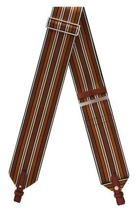 Женские ремень для сумки LORO PIANA коричневого цвета, арт. FAL7069   Фото 1