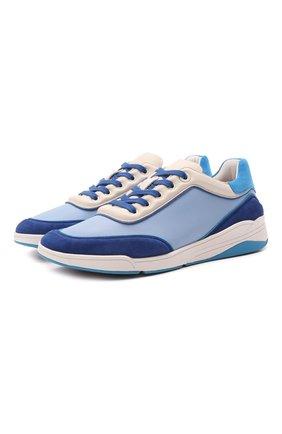 Женские кожаные кроссовки LORO PIANA синего цвета, арт. FAL2810 | Фото 1