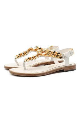 Женские кожаные сандалии TOM FORD белого цвета, арт. W2908T-LCL153 | Фото 1
