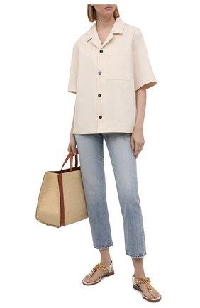 Женские кожаные сандалии TOM FORD белого цвета, арт. W2908T-LCL153 | Фото 2