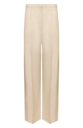 Женские брюки из вискозы TOTÊME бежевого цвета, арт. 212-253-709 | Фото 1
