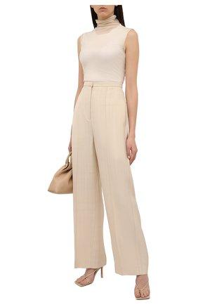Женские брюки из вискозы TOTÊME бежевого цвета, арт. 212-253-709 | Фото 2
