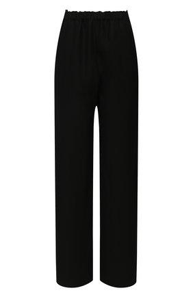 Женские льняные брюки TOTÊME черного цвета, арт. 212-254-723 | Фото 1