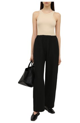 Женские льняные брюки TOTÊME черного цвета, арт. 212-254-723 | Фото 2