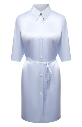Женская шелковая сорочка LA PERLA голубого цвета, арт. 0046940 | Фото 1