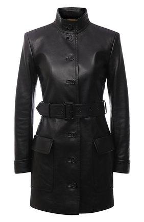 Женский кожаный жакет SAINT LAURENT черного цвета, арт. 660573/YC2ZZ   Фото 1