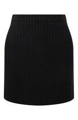 Женская шерстяная юбка SAINT LAURENT черного цвета, арт. 580279/Y127W | Фото 1 (Материал подклада: Шелк; Стили: Гламурный; Длина Ж (юбки, платья, шорты): Мини; Материал внешний: Шерсть; Женское Кросс-КТ: Юбка-одежда)