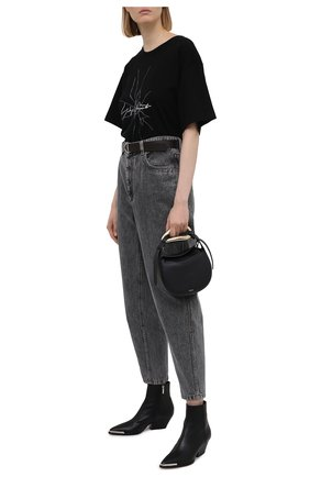 Женская хлопковая футболка YOHJI YAMAMOTO черного цвета, арт. FD-T14-075 | Фото 2