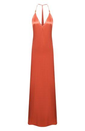 Женское платье из вискозы GALVAN LONDON оранжевого цвета, арт. DR0134 VISC0SE SATIN   Фото 1
