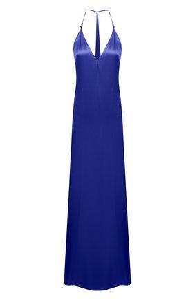Женское платье из вискозы GALVAN LONDON синего цвета, арт. DR0134 VISC0SE SATIN   Фото 1