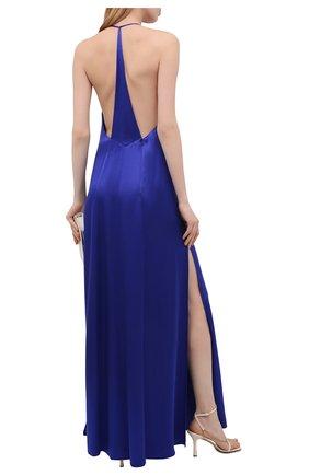 Женское платье из вискозы GALVAN LONDON синего цвета, арт. DR0134 VISC0SE SATIN   Фото 2