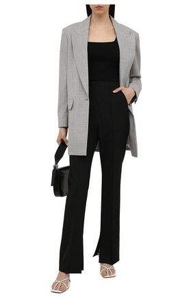 Женский шерстяной жакет BRUNELLO CUCINELLI серого цвета, арт. M032P2271P   Фото 2