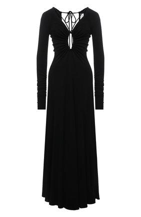 Женское платье из вискозы VICTORIA BECKHAM черного цвета, арт. 1221WDR002533A | Фото 1