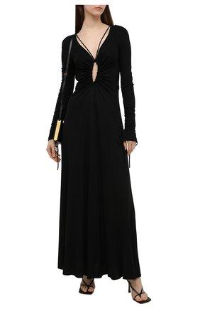 Женское платье из вискозы VICTORIA BECKHAM черного цвета, арт. 1221WDR002533A | Фото 2
