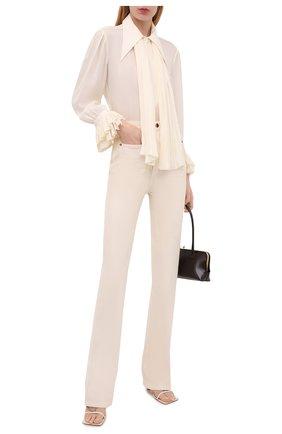 Женская шелковая блузка KHAITE белого цвета, арт. 2159314/NIA | Фото 2
