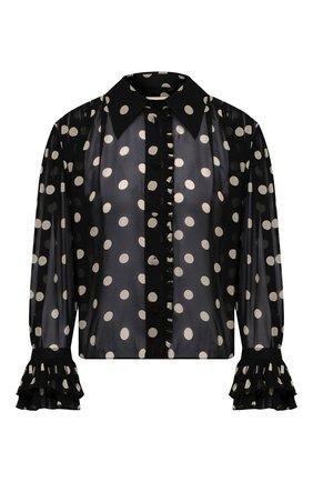 Женская шелковая блузка KHAITE черно-белого цвета, арт. 2160326/VANINA | Фото 1
