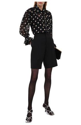 Женская шелковая блузка KHAITE черно-белого цвета, арт. 2160326/VANINA | Фото 2