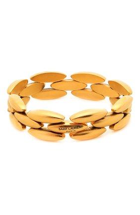 Женский браслет SAINT LAURENT золотого цвета, арт. 646239/Y1500 | Фото 2