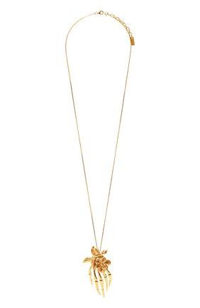 Женская кулон на цепочке SAINT LAURENT золотого цвета, арт. 652969/Y1500 | Фото 1 (Материал: Металл)