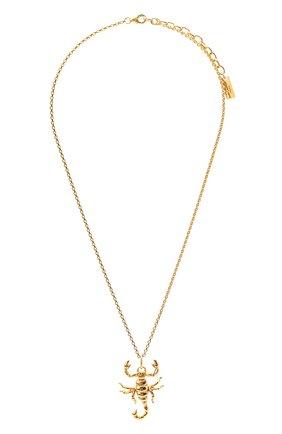 Женская кулон на цепочке SAINT LAURENT золотого цвета, арт. 653353/Y1500 | Фото 1 (Материал: Металл)