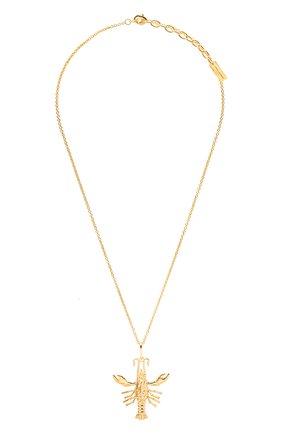 Женская кулон на цепочке SAINT LAURENT золотого цвета, арт. 653358/Y1500 | Фото 1 (Материал: Металл)