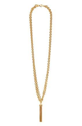 Женское колье SAINT LAURENT золотого цвета, арт. 656690/Y1500   Фото 1