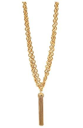 Женское колье SAINT LAURENT золотого цвета, арт. 656690/Y1500   Фото 2