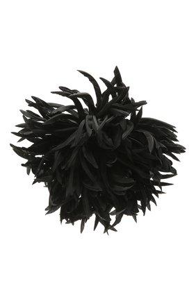 Женская брошь SAINT LAURENT черного цвета, арт. 656754/3YH01 | Фото 1