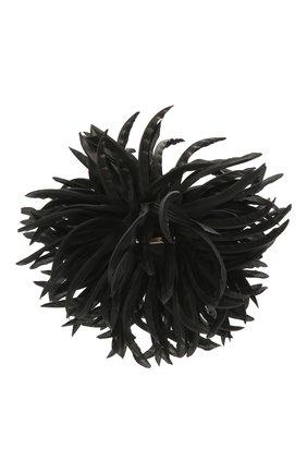 Женская брошь SAINT LAURENT черного цвета, арт. 656754/3YH01 | Фото 2