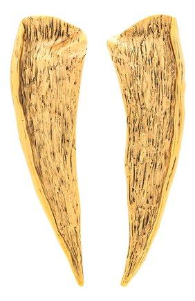 Женские клипсы SAINT LAURENT золотого цвета, арт. 657812/Y1500 | Фото 1